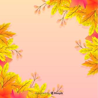 Stile piano del fondo delle foglie di autunno
