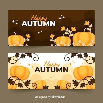 Stile piano del modello banner autunno