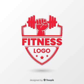 Stile piano del modello di logo di forma fisica