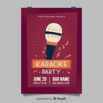 Stile piano del modello di manifesto di karaoke