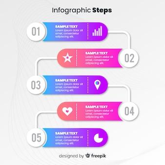 Stile piano del modello di punti di infografica