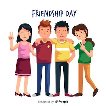 Stile piano di amicizia giorno sfondo