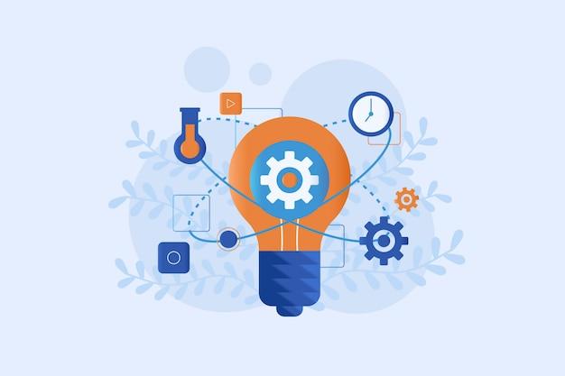 Stile piano di illustrazione di innovazione