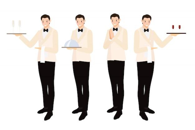 Stile piano di lusso formale cena cameriere collezione