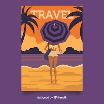 Stile piano di poster vintage di viaggio