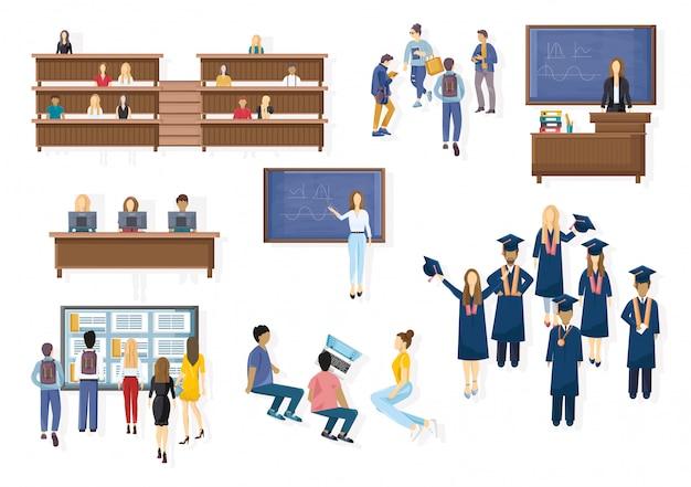 Stile piano di raccolta di laurea degli studenti
