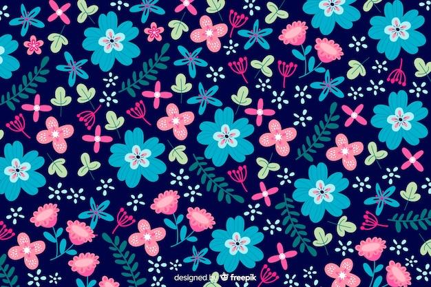 Stile piano di sfondo colorato di fiori