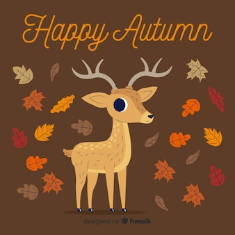 Stile piano di sfondo decorativo autunno