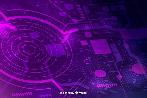 Stile piano di sfondo del circuito stampato
