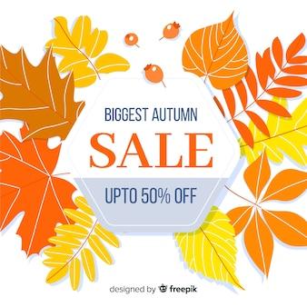 Stile piano di vendite autunno sfondo