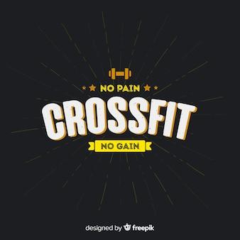 Stile piatto emblema motivazionale crossfit