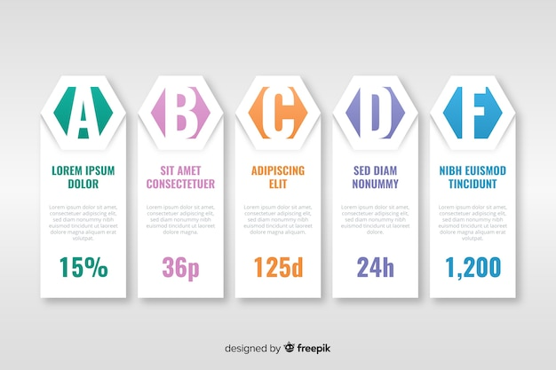 Stile piatto modello infografica timeline