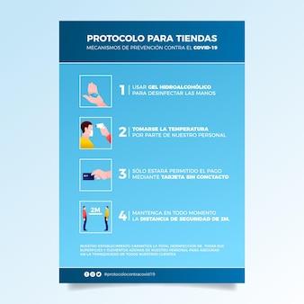 Stile poster di prevenzione del coronavirus
