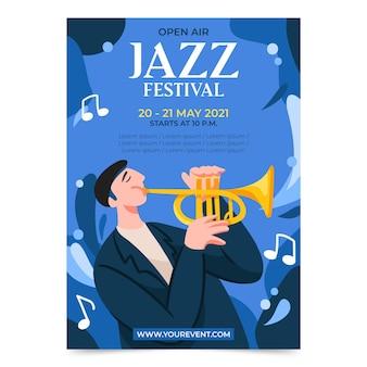 Stile poster festival di musica all'aperto