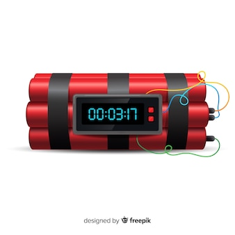 Stile realistico bomba dinamite rosso