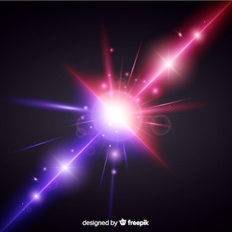 Stile realistico di effetto di due forze di luce