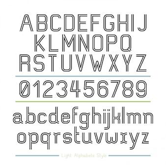 Stile strisce di alfabeto linea.