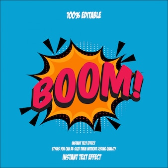Stile testo boom, effetto carattere modificabile