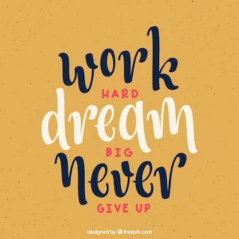 Stile vintage citazione motivazionale sfondo