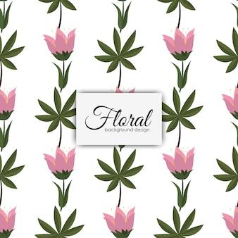 Stile vintage di fiori senza cuciture