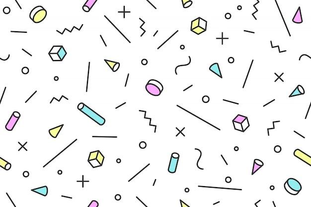 Stili alla moda del modello grafico senza cuciture di mephis