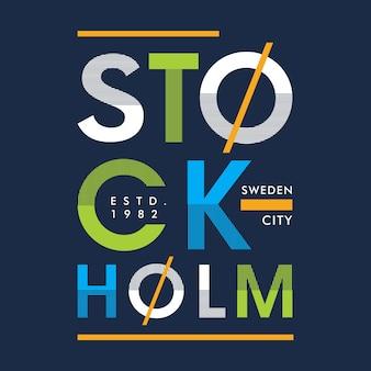 Stoccolma graphic design per la stampa di abbigliamento