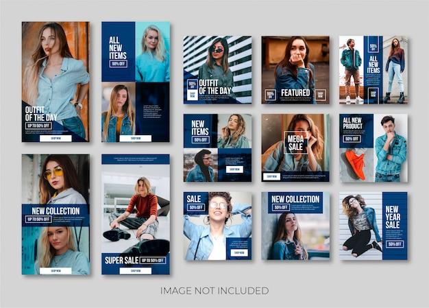 Storia di instagram di moda o modello di banner