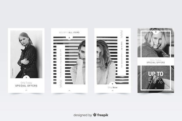 Storie astratte di instagram di vendita di moda