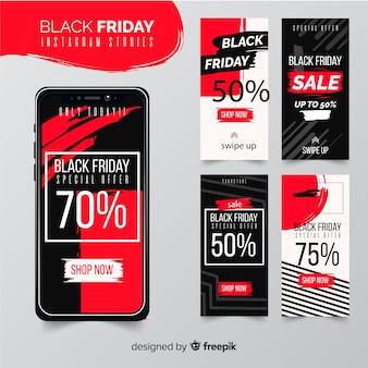 Storie di instagram collezione venerdì nero