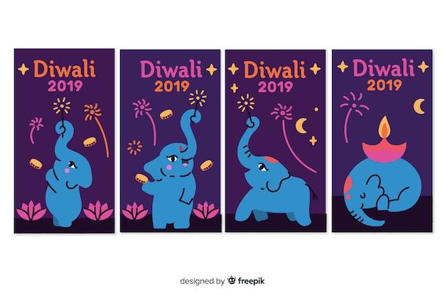 Storie di instagram del festival diwali