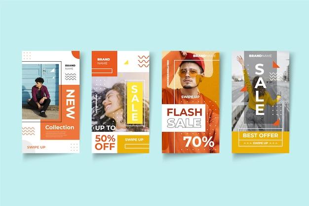 Storie di instagram design vendita colorata