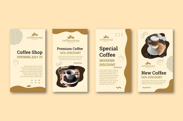 Storie di instagram di caffetteria