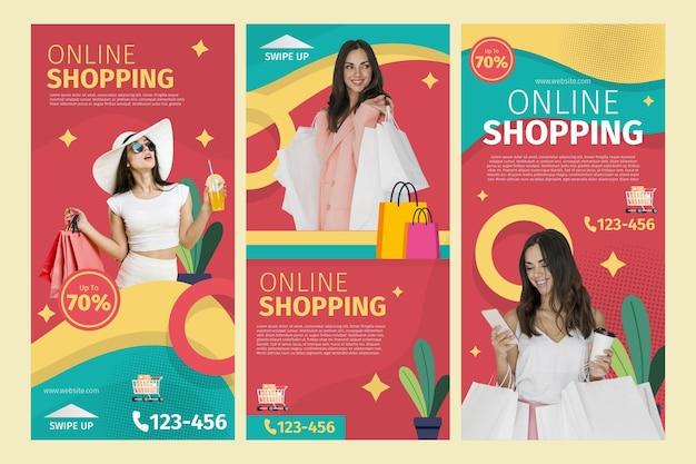 Storie di instagram di shopping online