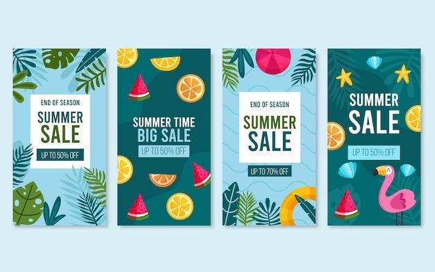 Storie di instagram di vendita estiva di fine stagione