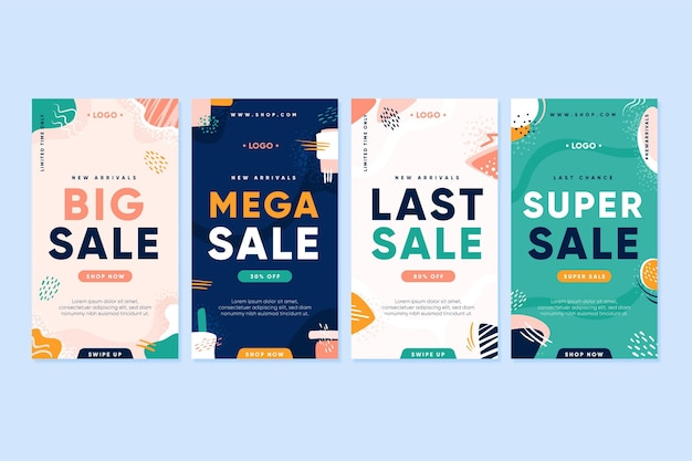 Storie di instagram di vendita mega