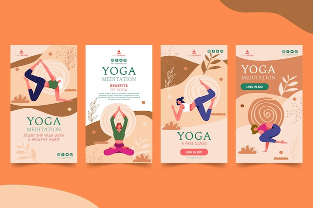 Storie di instagram di yoga