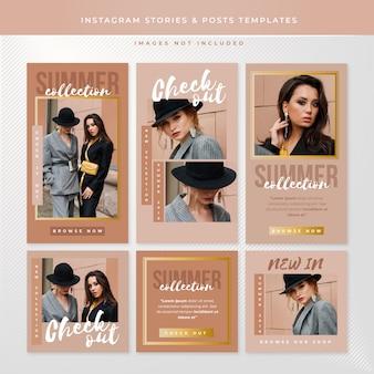 Storie di instagram e modelli di post