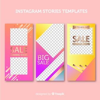 Storie di instagram incornicia i modelli