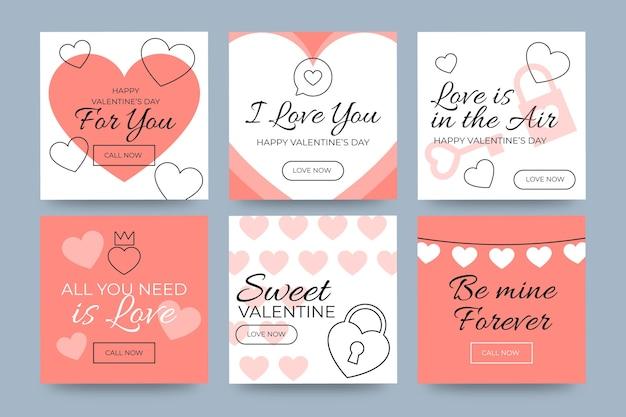 Storie di social media per cellulare a san valentino