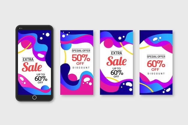 Storie di vendita astratte colorate instagram