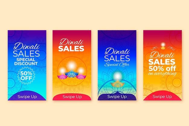 Storie di vendita di instagram diwali felici