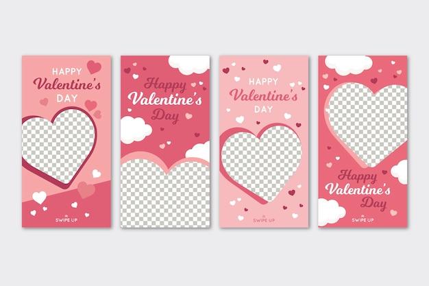 Storie di vendita di san valentino impostate