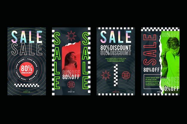 Storie instagram di vendita acida