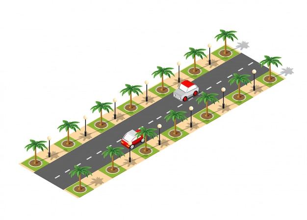 Strada 3d isometrica città