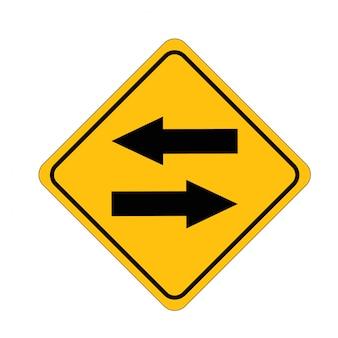 Strada a due vie dello scambio di segnali stradali