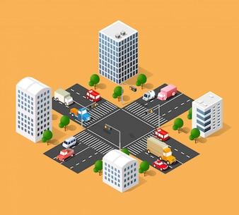 Strada dei trasporti urbani