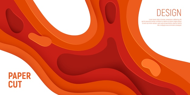 Strati arancio delle onde del fondo dell'estratto della melma.