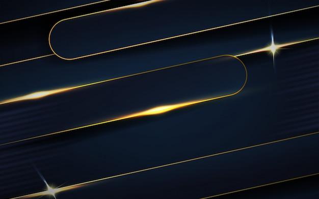 Strati di sovrapposizione blu scuro con sfondo di linee