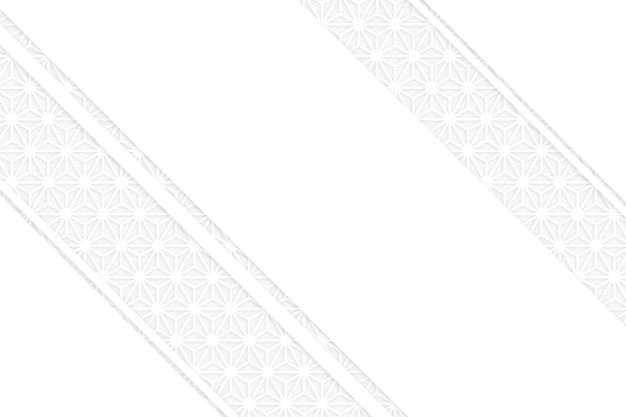 Strati di stile di carta 3d di sfondo bianco