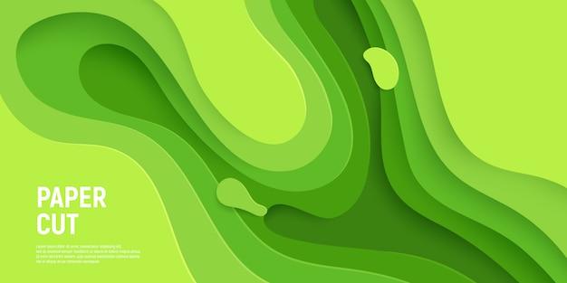 Strati verdi delle onde del fondo dell'estratto della melma.